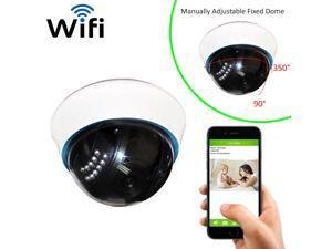 Coolcam WiFi IP Network Dome Camera, Wireless, Video Monitoring, Surveillance, Security Camera, Plug/Play, Night Vision IR Camera