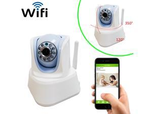 CoolCam WiFi IR Pan&Tilt IP Smartphone Security Surveillance Camera with Night Vision and Motion Detect 2-way Audio QR Code Auto Connect micro SD card slot