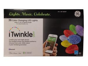 GE G-35 iTwinkle Smartphone Controlled 36 String LED Christmas Lights