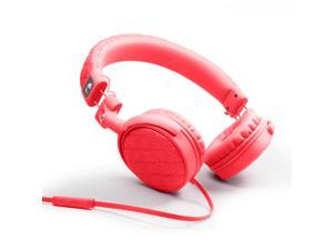 Nakamichi NK600 Series On-The-Ear Headphones with Mic - Retail Packaging - Red