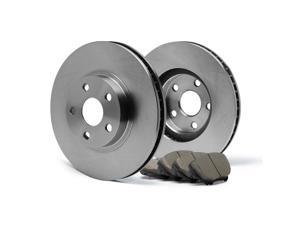 Rear Premium OE Blank Rotors and Ceramic Pads Brake Kit KT072842 | Fits: 2002 02 2003 03 Ford Explorer 4Dr Models