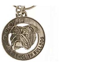 Pewter ~ English Bulldog Keychain ~ DK072
