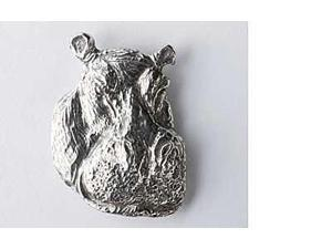 Pewter ~ Hippopotamus ~ Lapel Pin / Brooch ~ M100