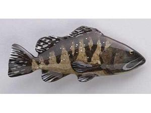 Painted ~ Black Rockfish ~ Lapel Pin / Brooch ~ SP067