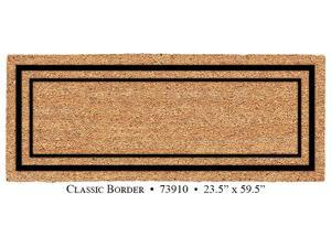 DeCoir Natural fiber, Weather resistant, 24 x 60 Classic border Double Elegant Entrance Mat