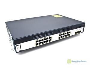 CISCO WS-C3750G-24TS-S 24-PORT 10/100/1000 GIGABIT STACKABLE SWITCH 4 SFP, 1.5U