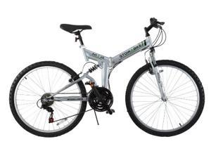 "Stowabike 26"" Folding Dual Suspension Mountain Bike 18 Speed Shimano Bicycle"