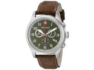 Wenger Men's 71001   Stainless Steel Watch with Brown Leather Band