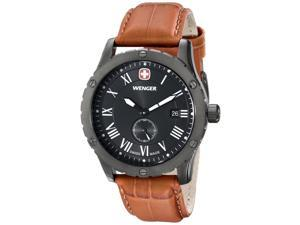 Wenger Men's 71000  Grenadier Stainless Steel Watch with Brown Leather Band