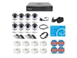 Swann 8-Channel HD Analog DVR with 2TB HDD, 8 1080p Cameras with 100' Night Vision