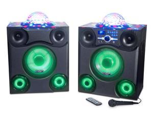 Ion Audio Mega Party Express Jumbo 600-Watt Bluetooth Speaker System with Party Lights and Microphone