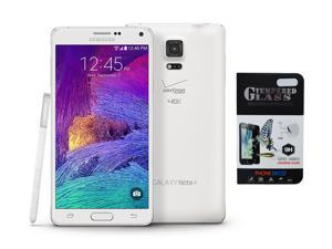 New Samsung Galaxy S5 G900V 16GB Verizon Factory GSM Network Unlocked - White - Includes BONUS Tempered Glass Screen Protector