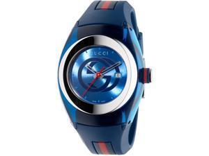 Gucci Sync L Blue Rubber Unisex Watch YA137304