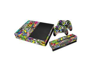 eXtremeRate® Sticker Bomb Graffiti Sticker Decal Skin for Microsoft Xbox One Console Controller Kinect