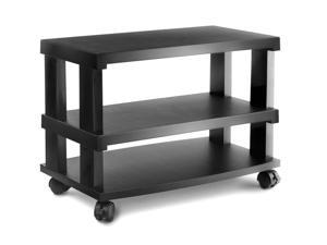 Aleratec LCD/LED TV Stand 3-Tier Entertainment Center Configurable Height with Wheels