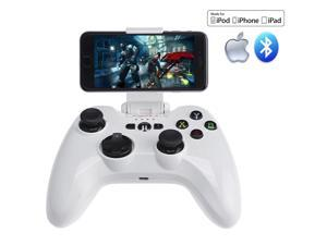 [Apple MFi Certified]Megadream® SPEEDY PXN Wireless Bluetooth Game Controller Joystick Joypad for  Apple iPhone iPad iPod TV Require iOS7 or Later Build-in Rechargeable Lithium Polymer Battery (White)