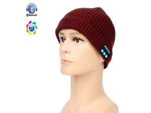 Knit Music Hat, Megadream® Bluetooth V3.0+EDR Warm Cap Handsfree Headphone Speaker for iPhone 6s Plus 6 5 iPad Air 2 Mini Pro Samsung Galaxy S6 Edge Plus HTC One Sony Xperia Google Nexus (Wine Red)