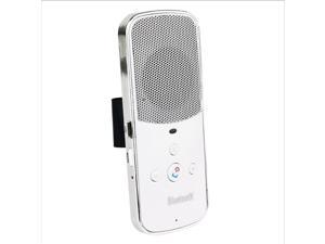 Megadream® Sun Visor Bluetooth V3.0+EDR Hands-free Multipoint Speakerphone Bluetooth Car Kit Connect Two Mobile Phone Voice Reminder Redial Last Call Phone Number - White