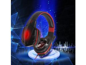 Megadream® KOTION EACH G4000 Professional Over Ear 3.5mm PC Gaming Stereo Noise Isolation Headset Headphone Headband Earphones with Volume Control Microphone for Laptop Computer PC -  Black + Red