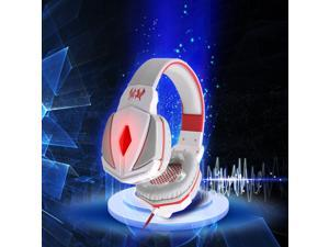 Megadream® KOTION EACH G4000 Professional Over Ear 3.5mm PC Gaming Stereo Noise Isolation Headset Headphone Headband Earphones with Volume Control Microphone for Laptop Computer PC -  White + Red