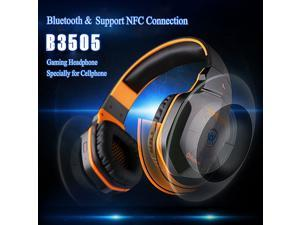 Megadream® KOTION EACH B3505 Wired/Wireless Bluetooth PC Gaming Stereo Noise-Isolation Headset Headphone For Laptop Computer Smart Cellphone MP3 Players with 3.5mm Volume Control Mic HiFi NFC - Orange