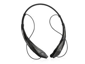 Wireless Bluetooth 4.0 Stereo APT-X Magnetic Headset Sports Running Gym Exercise Neckband Earbuds Headphone with Microphone for iPhone, Samsung Android, Tablet, Other Bluetooth Device-Black