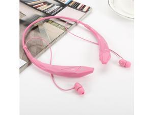 Wireless Bluetooth 4.0 Stereo APT-X Magnetic Headset Sports Running Gym Exercise Neckband Earbuds Headphone with Microphone for iPhone, Samsung Android, Tablets, Other Bluetooth Device-Pink