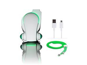 Cool ON The Go Portable Baby Stroller Fan  Green - with LED Lights - Cool on the Go Clip On Fan - Versatile Hands-free Personal Cooling Device