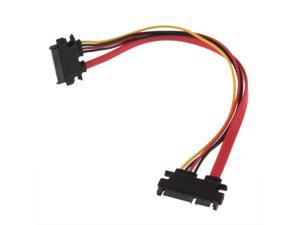 Male to Female 7+15 Pin Serial ATA SATA Data power combo extension Cable FTF