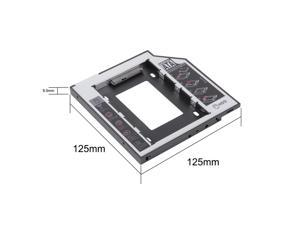 Universal 9.5mm SATA 2nd HDD SSD Hard Drive Caddy for Laptop CD/DVD-ROM Optical Bay,HP, DELL, Thinkpad, Sony, Toshiba, ASUS, Fujitsu, Acer etc.
