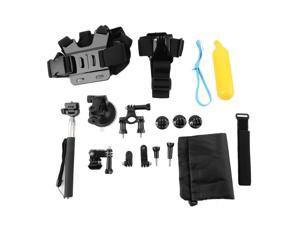 9 in 1 Head Chest Monopod Pole Mount Kit Accessories For GoPro 2 3 4 Camera