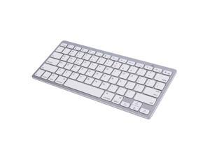 New Silver Wireless Bluetooth Keyboard For Android MAC Windows OS System
