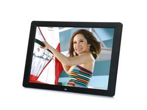 "15"" LED HD High Resolution Digital Picture Photo Frame + Remote Controller black"