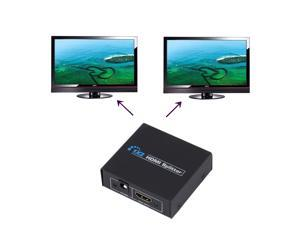 HDCP 1080P 1 in 2 Out HDMI Splitter Amplifier Dual Display For HDTV DVD PS3