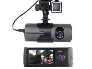 "USA STOCK 2.7"" Vehicle Car DVR Video Recorder Dash Cam G-Sensor GPS Dual Len Camera"