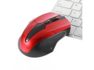 Wireless Optical Mouse Red 6 Keys USB Wireless Optical 2.4GHz Mouse Cordless Mice for Laptop PC