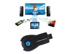 iPush DLNA Miracast Wifi Display HDMI TV Dongle Receiver Wireless Transmitter  black and blue
