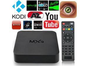 MXQ Amlogic S805 Android 4.4 Quad-Core WiFi Kodi 4K Smart set TV Box 8GB XBMC US PLUG