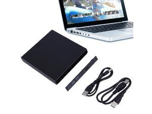 USA STOCK Portable USB 2.0 DVD CD DVD-Rom SATA External Case Slim for Laptop Notebook