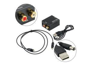 USA STOCK Digital Optical Coaxial Toslink Signal to Analog Audio Converter Adapter RCA
