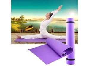 YKS 6mm Thick Non-Slip Yoga Mat Exercise Fitness Lose Weight 68x24x0.24in. Purple