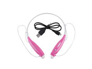 US STOCK Bluetooth Wireless HandFree Sports Stereo Headset Earphone For iPhone PINK