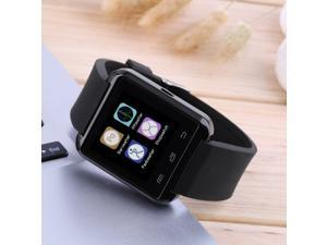 U8 Bluetooth Smart Wrist Watch Phone Mate For IOS iPhone Smart Phone black