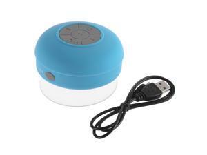 Portable Waterproof Wireless Bluetooth Handsfree Mic Suction Speaker Subwoofer Shower Car Receive Call Music Suck Mic blue