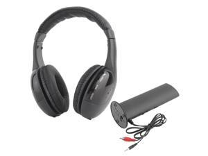 Wireless 5 in 1 Headphone Earphone HiFi FM Monitor MP3 PC TV Audio Cellphones black