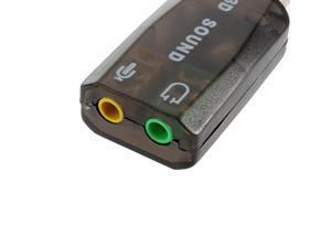 USB2.0 Audio Headset Headphone Earphone Mic Microphone Jack Converter Adapter FF