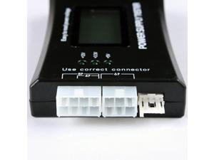 Computer PC Power Supply Tester Checker 20/24 pin 4 SATA HDD ATX BTX Meter