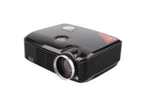 2500 Lumens LCD Projector with HDMI Input Home Theater Video Movie Projectors black