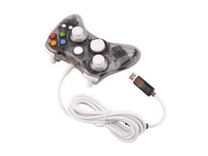 USA STOCK Black LED Glow Wired USB Gamepad Game Controller for Microsoft Xbox 360 Slim