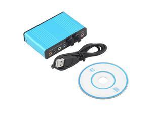 USB 6 Channel 5.1 Audio External Optical Sound Card Adapter For PC Laptop Skype   blue